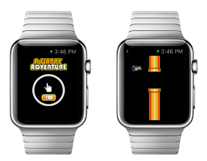 A Flappy Adventure Apple Watch game
